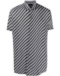 Emporio Armani Diagonal Stripe Print Shirt