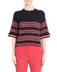 Fendi Genuine Mink Stripe Sweater
