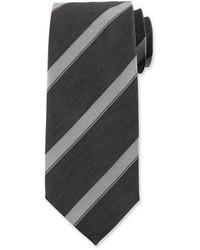 Tom Ford Wide Diagonal Stripe Silk Tie Black