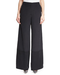 Robert Rodriguez Wide Leg Silk Pants W Striped Sides