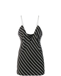 Haider Ackermann Striped Plunge Neck Top