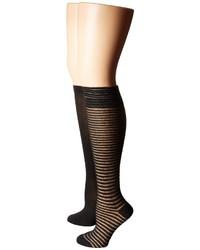 Steve Madden 2 Pack Crochet Knee High Knee High Socks Shoes