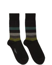 Marni Black Stripe Socks