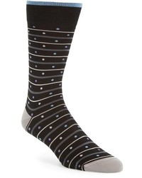 Bugatchi Dot Stripe Socks