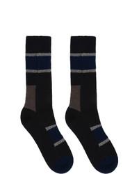 Sacai Navy Horizontal Stripe Socks
