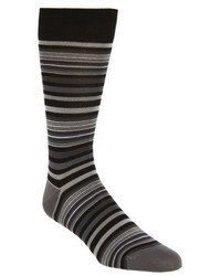 Bugatchi Thin Stripe Crew Socks