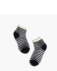 Madewell Sheer Stripe Ankle Socks