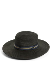 RVCA High Road Straw Boater Hat Black