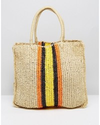 Warehouse Straw Tote Bag