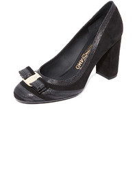 Salvatore Ferragamo Vara Striped Pumps