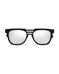 Calvin Klein 205W39nyc Striped D Frame Acetate Sunglasses