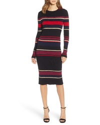 Cupcakes And Cashmere Yarn Dyed Stripe Sweater Dress