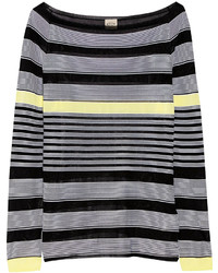 Tod's Striped Stretch Knit Sweater