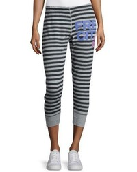 Freecity Strike Sounds Cropped Jogger Pants Blackgray Stripe