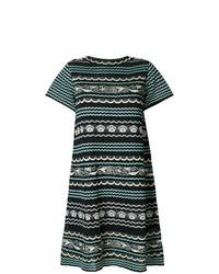 M Missoni Metallic Knit Mini Dress