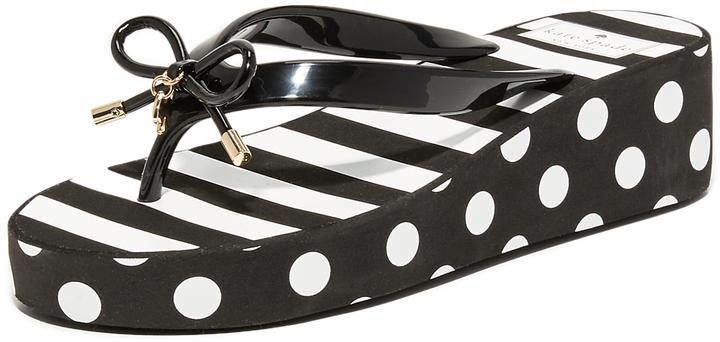9ae4a7023545 ... Striped Thong Sandals Kate Spade New York Rhett Wedge Flip Flops ...