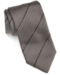 Black Horizontal Striped Tie