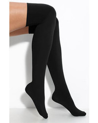 Hue Microfiber Over The Knee Boot Liners Black One Size