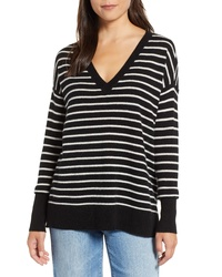 Halogen Relaxed V Neck Cashmere Sweater