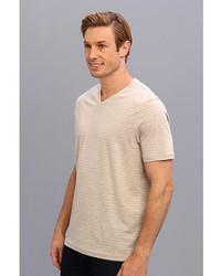 86cc20568e ... Perry Ellis Ss Cotton Stripe V Neck T Shirt ...