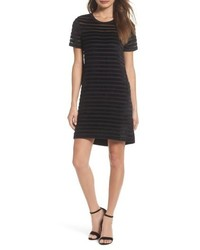 French Connection Velvet Stripe Shift Dress
