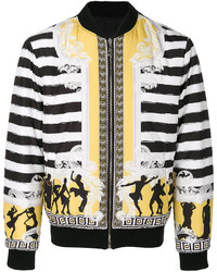 Versace Collection Striped Bomber Jacket