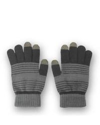 Solegear Grey Stripe Touch Screen Smart Gloves
