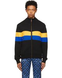 Wales Bonner Black Yellow Saint Jones Zip Up Sweater