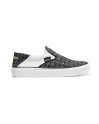 Vetements Logo Print Collapsible Heel Canvas Slip On Sneakers
