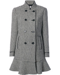 RED Valentino Houndstooth Double Breasted Coat