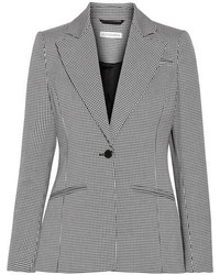 Altuzarra Acacia Houndstooth Stretch Cotton Blazer Black
