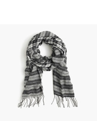 J.Crew Houndstooth Scarf In Italian Wool Blend