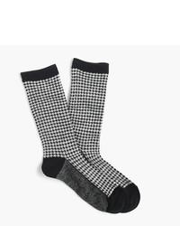 J.Crew Trouser Socks In Houndstooth Print