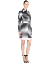Salvatore Ferragamo Silk Houndstooth Trench Coat