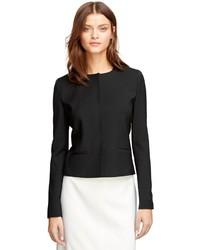 Brooks Brothers Wool Collarless Jacket