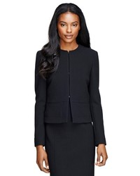 Brooks Brothers Wool Crepe Cropped Jacket