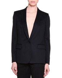 Stella McCartney Classic Tailored One Button Suit Jacket Black