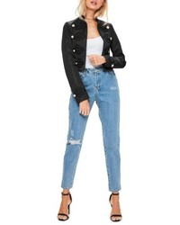 Missguided Crop Military Jacket