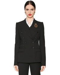 Dolce & Gabbana Double Breasted Stretch Natt Jacket