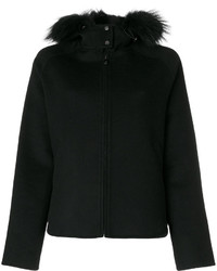 Fur trim hooded jacket medium 5053092