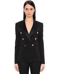Versace Jacquard Double Breasted Tuxedo Jacket