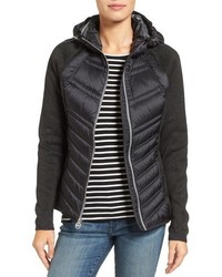 MICHAEL Michael Kors Michl Michl Kors Mixed Media Hooded Down Jacket