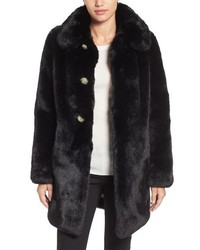 Kate Spade New York Jewel Button Faux Fur Jacket