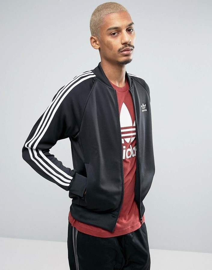 38ef2c31b9eecc ... adidas Originals Superstar Track Jacket In Black Bk5921 ...