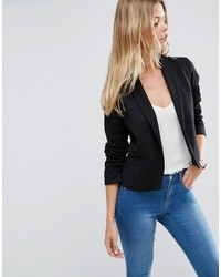 Asos Ponte Jacket With Shawl Collar Detail