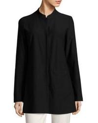 Eileen Fisher Solid Mandarin Collar Jacket