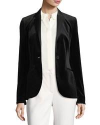 Escada Velvet Tuxedo Jacket Black