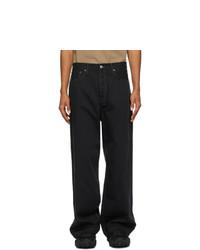 Acne Studios Black Loose Fit Jeans