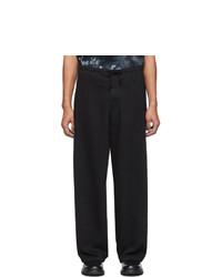 Yohji Yamamoto Black Regular String Jeans