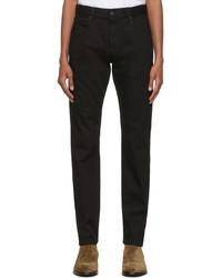 Ermenegildo Zegna Black Stretch Cotton 5 Pocket Jeans